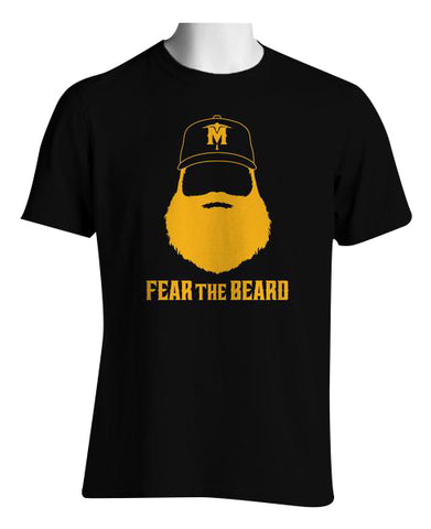 Fear The Beard Child T-Shirt (Black)