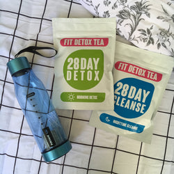 28 Day Fit Detox Tea + Bottle with strainer