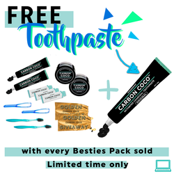 Besties' Pack (2 Sets of Carbon Coco Complete Kits) + FREE Toothpaste