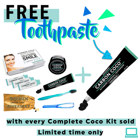 Carbon Coco Complete Kit + FREE Toothpaste