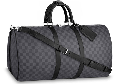 Louis Vuitton Keepall Bandouliere Damier Graphite 55 Black/Graphite