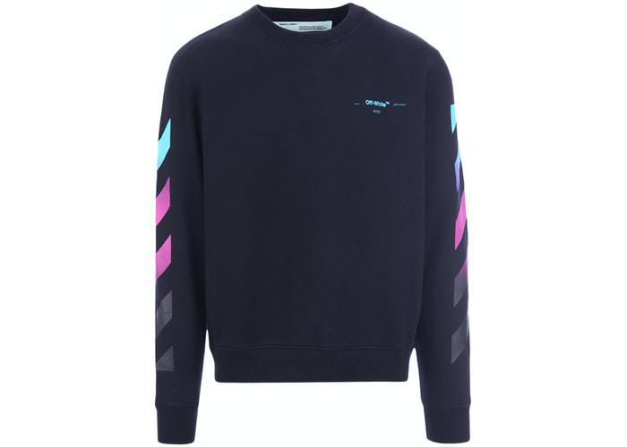 Off-White Diag Gradient Crewneck Sweatshirt Black/Multicolor