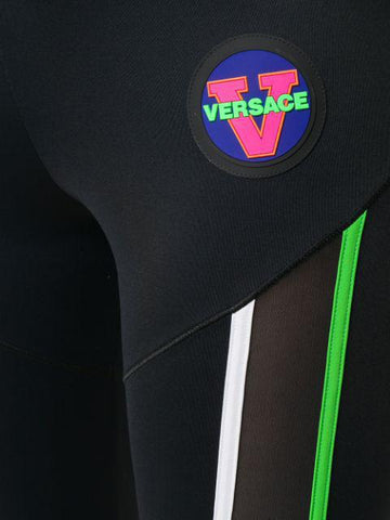 Versace Logo Patch Leggings