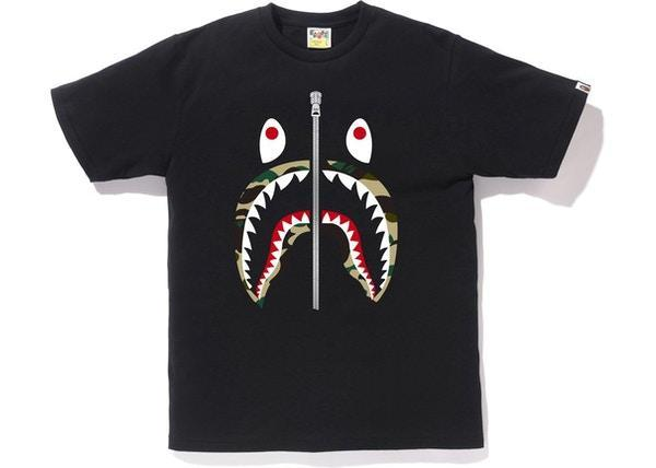 BAPE 1st Camo Shark Tee (SS18) Black/Yellow
