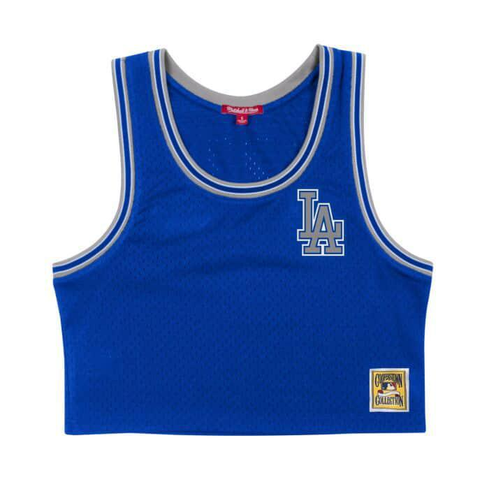 Mitchell & Ness Women's Mesh Crop Tank Los Angeles Dodgers