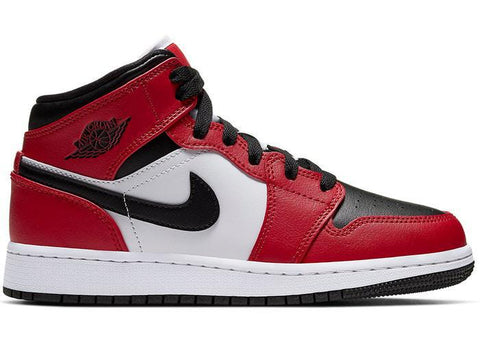 Air Jordan 1 Mid Chicago Black Toe (GS)