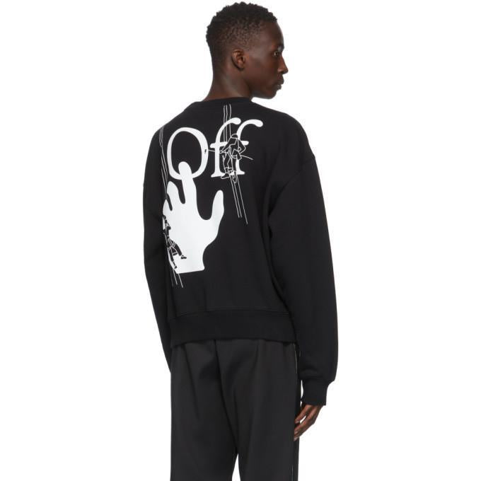 Off White Black Hand Painters Sweatshirt
