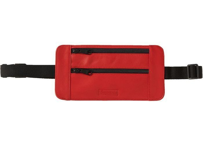 Supreme Leather Waist/Shoulder Pouch Red