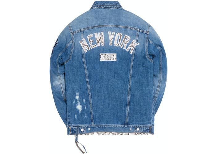 Kith For Major League Baseball New York Yankees Laight Denim Jacket Navy