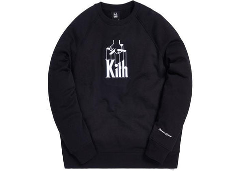 Kith x The Godfather Puppet Crewneck Black