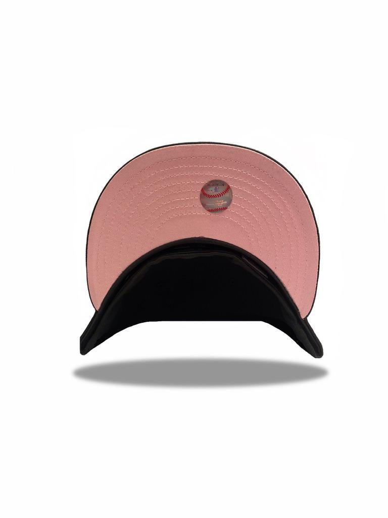 EXCLUSIVE NEW ERA 59FIFTY BOSTON RED SOX 2004 WORLD SERIES PATCH PINK UV HAT - BLACK