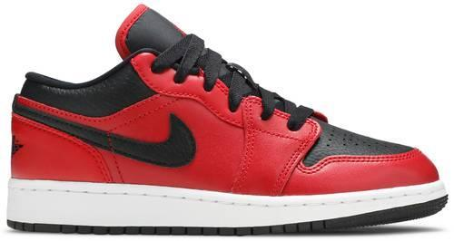 Air Jordan 1 Low Gym Red Black Pebbled (GS)
