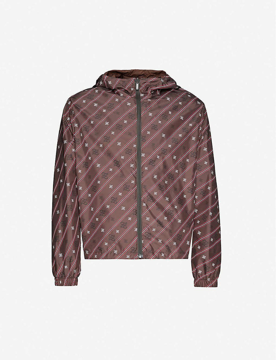 Fendi Calligraphy Printed Cocoa Jacket