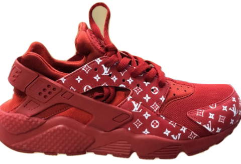 Custom LV Nike Huarache Red