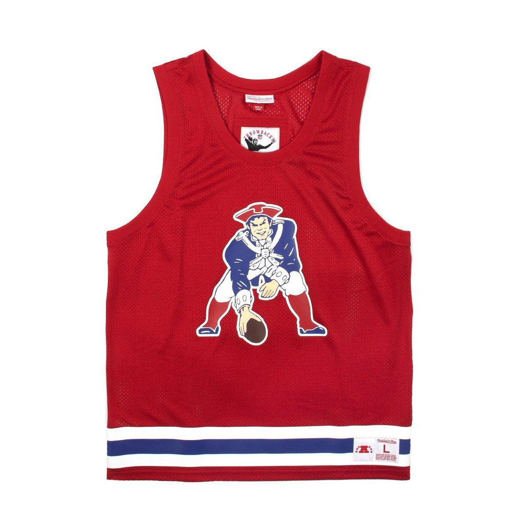 new concept 28aab 8893a MITCHELL & NESS X CONCEPTS MESH TANK-TOP NEW ENGLAND PATRIOTS