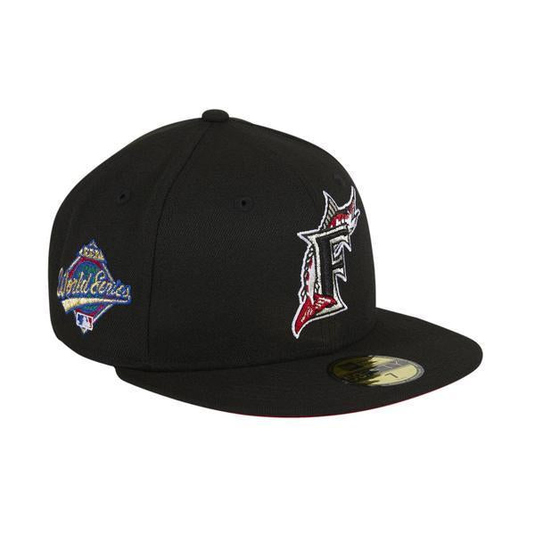 Exclusive New Era 59Fifty Miami Marlins 1997 World Series Patch Red UV Hat - Black