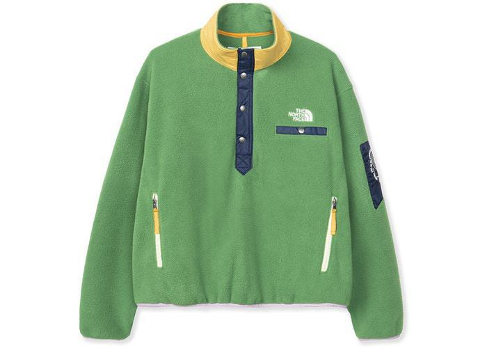 The North Face x Brain Dead 89 Placket Pullover Fleece Sullivan Green
