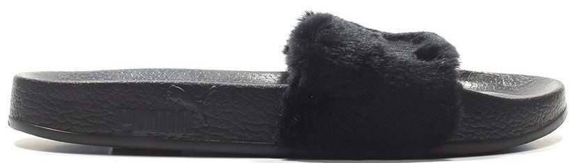 low priced f6e9a c6fa6 Puma x Rihanna Leadcat Fenty Fur Slide Black