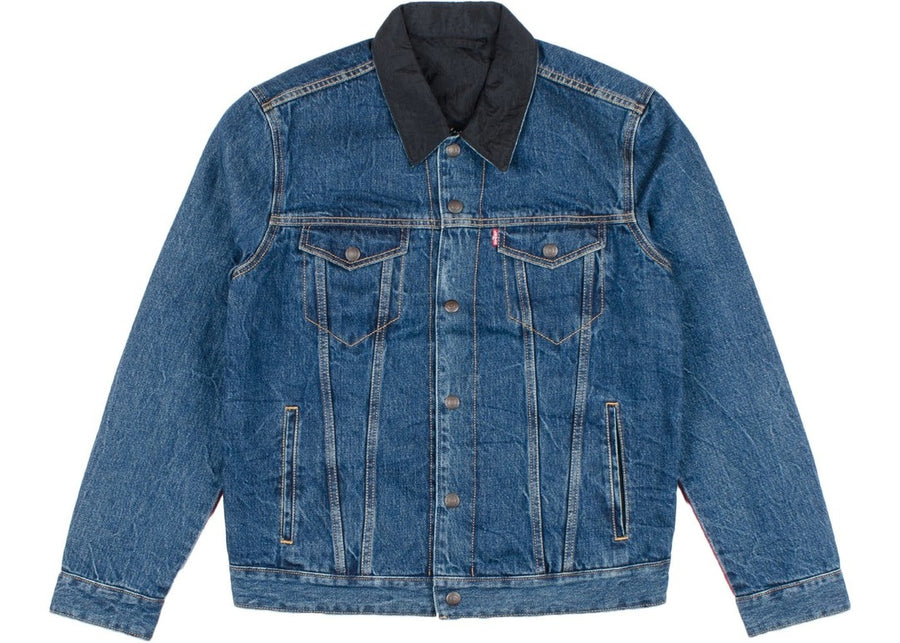 Air Jordan x Levis Reversible Trucker Jacket Indigo