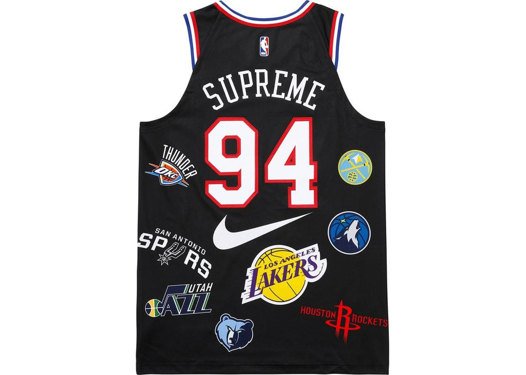 Supreme Nike / NBA Teams Authentic Jersey Black