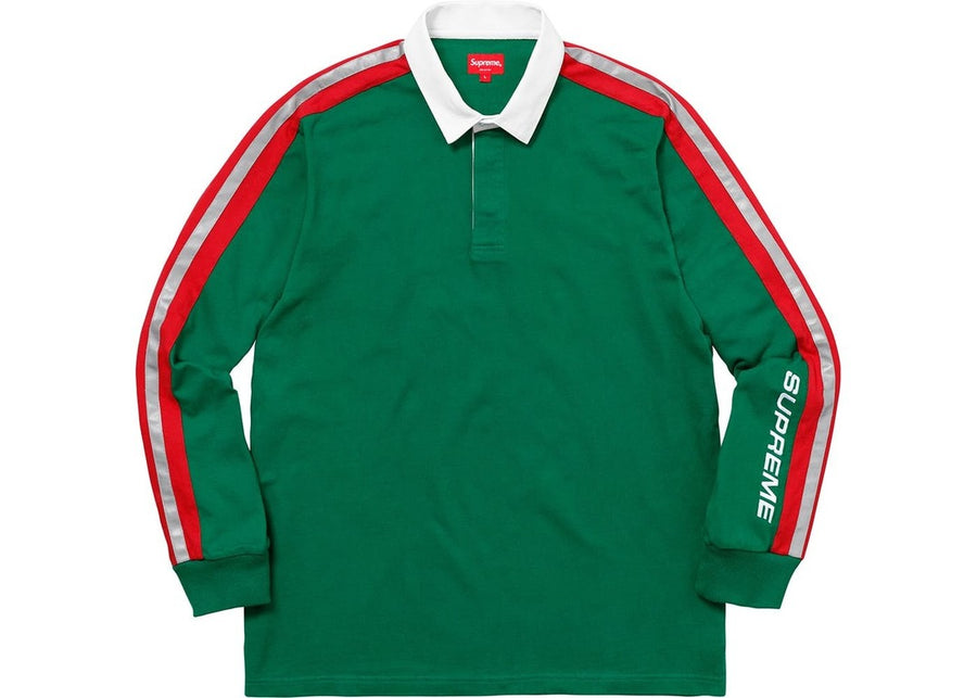 Supreme Reflective Sleeve Stripe Rugby Green