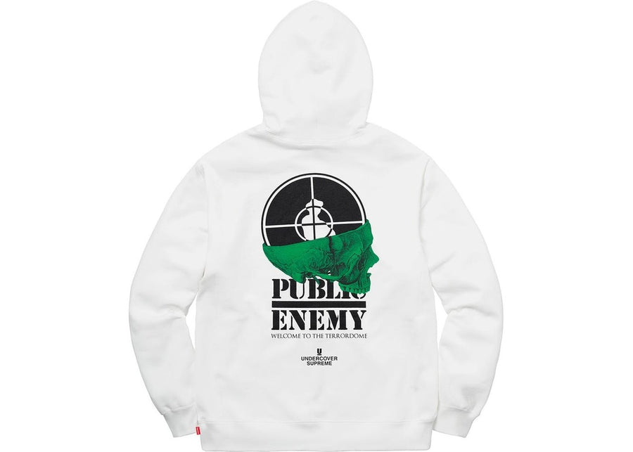 Supreme UNDERCOVER/Public Enemy Terrordome Hooded Sweatshirt White