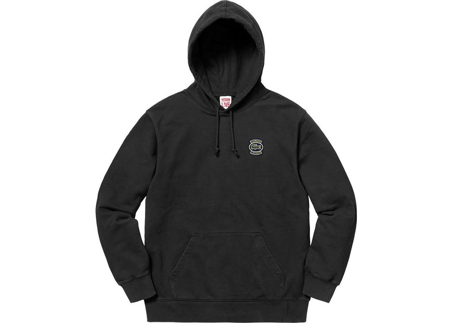 Supreme Lacoste Hooded Sweatshirt Black