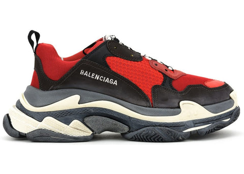 Balenciaga Triple S Red Black