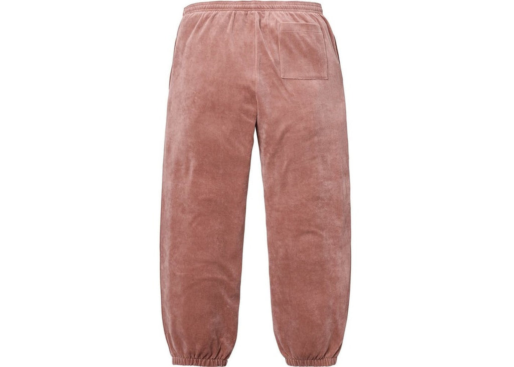 Supreme LACOSTE Velour Track Pant Light Maroon