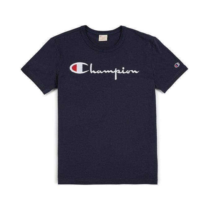 Champion Script Ink Tee Navy
