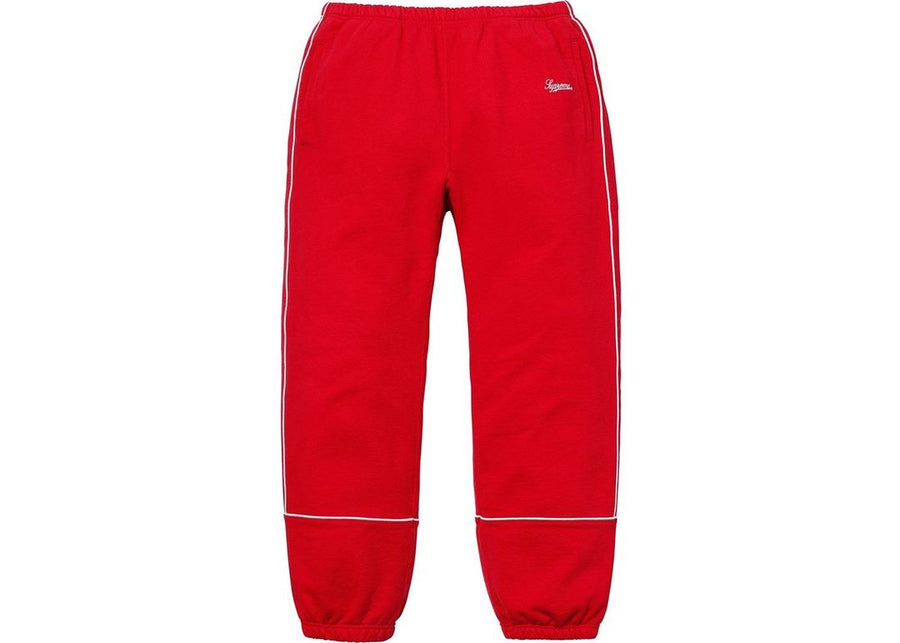 Supreme Piping Sweatpant Red