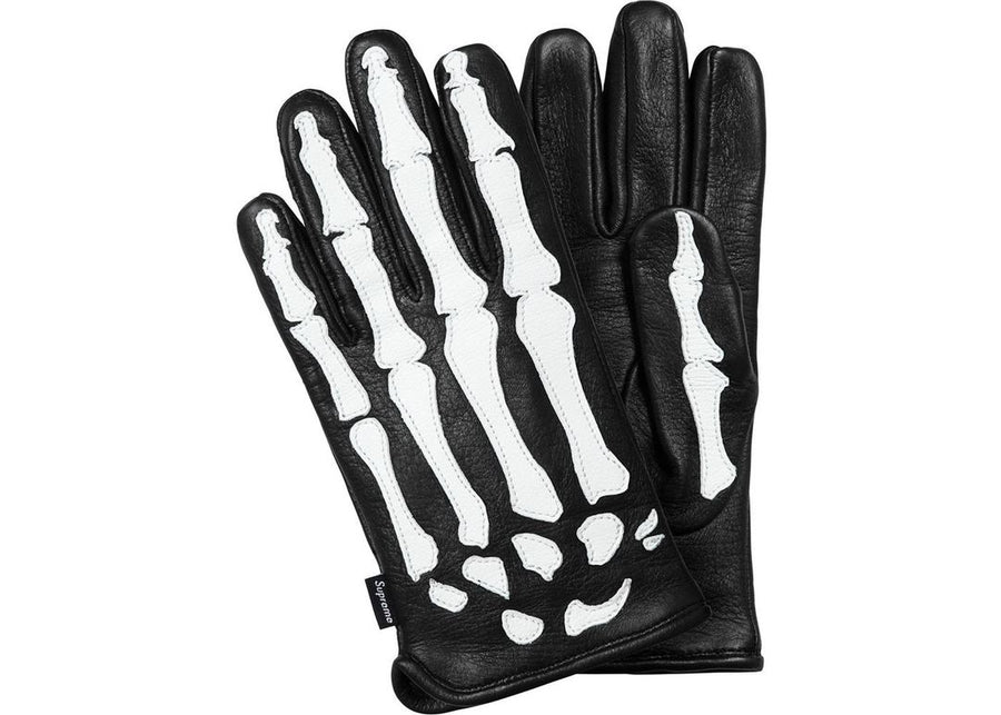 Supreme Vanson Leather X-Ray Gloves Black