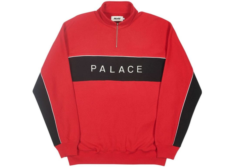 Palace Quarter Zip Funnel Red