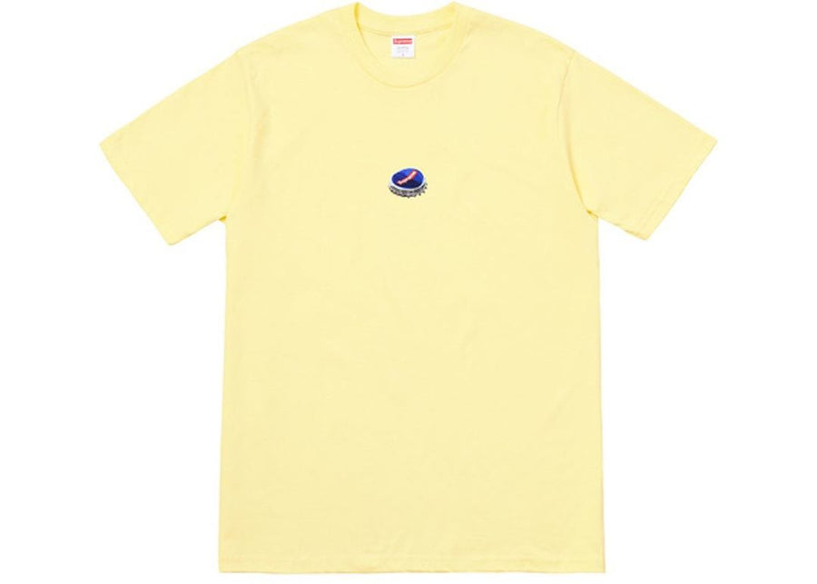 Supreme Bottle Cap Tee Pale Yellow