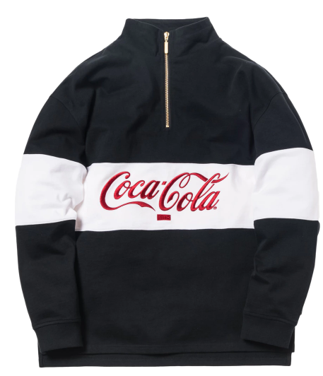 Kith x Coca-Cola Quarter-Zip Rugby Black