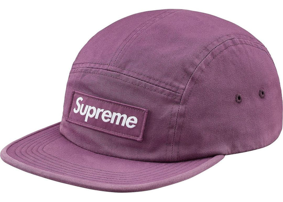 Supreme Washed Chino Twill Camp Cap (FW18) Dark Lilac