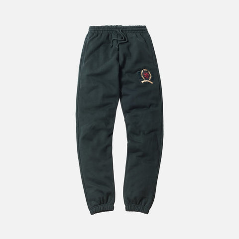 KITH X TOMMY HILFIGER CREST FLEECE PANT FOREST GREEN