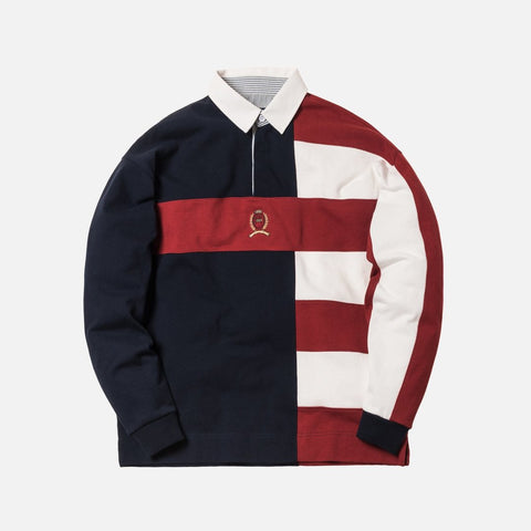 4d070058 KITH X TOMMY HILFIGER COLOR BLOCK RUGBY NAVY