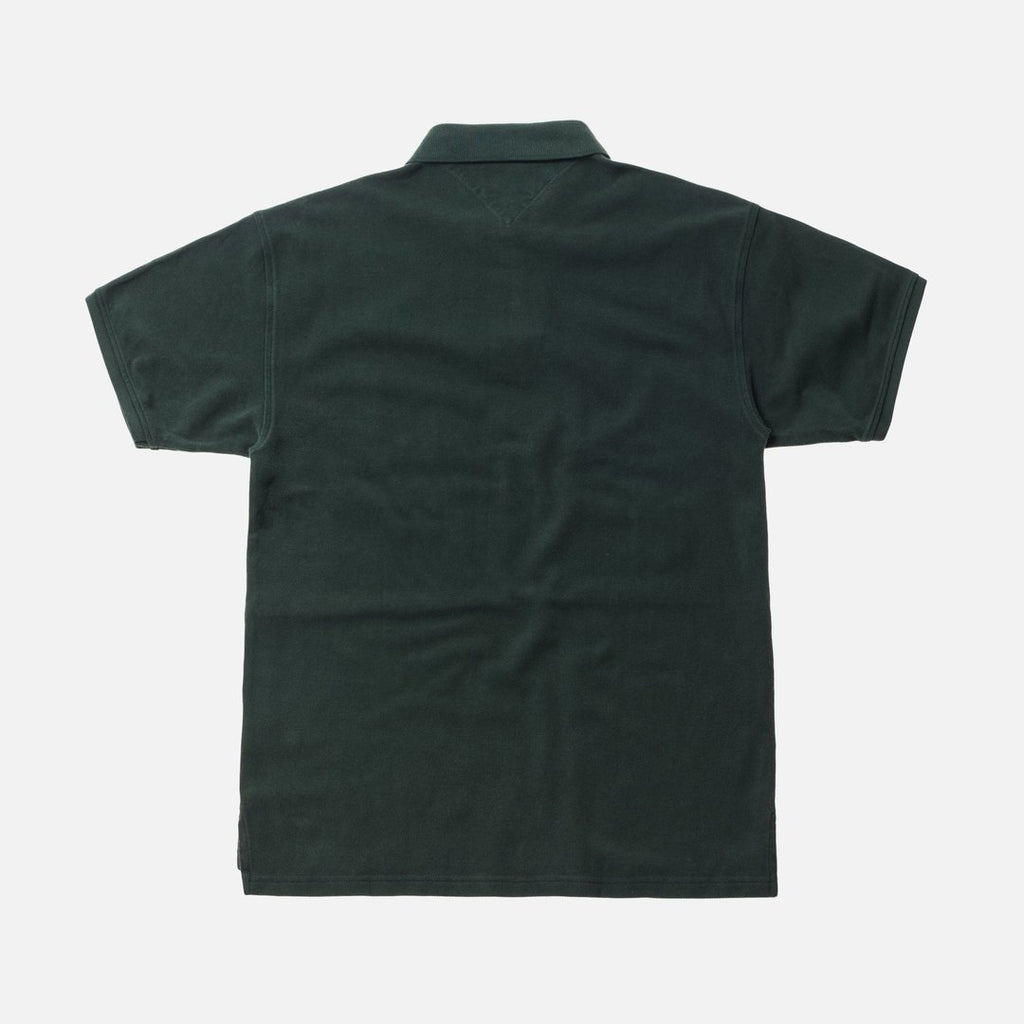 KITH X TOMMY HILFIGER FLAG S/S POLO FOREST GREEN