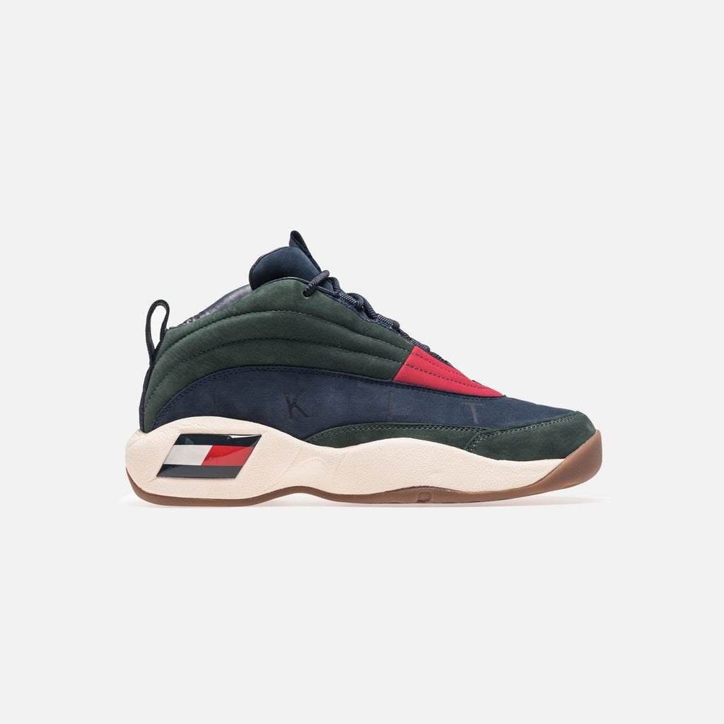 96264e022 KITH X TOMMY HILFIGER LUX BASKETBALL SNEAKER FOREST GREEN   NAVY – Kickzr4us