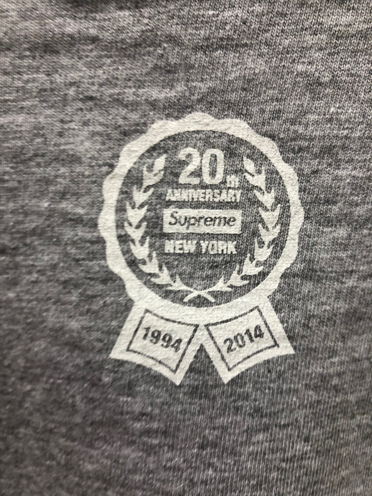 2014 S/S Supreme 20th Anniversary Box Logo Grey
