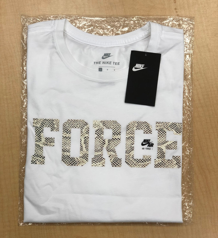 Nike Air Force Atmos ComplexCon Snakeskin T Shirt Long Sleeve Tee Graphic White