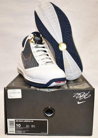 Nike Air Max Lebron 7 Black/White metalic gold
