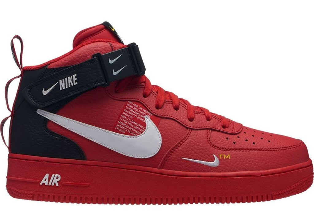 best service 8a767 39c80 Nike Air Force 1 Mid Utility University Red (GS)