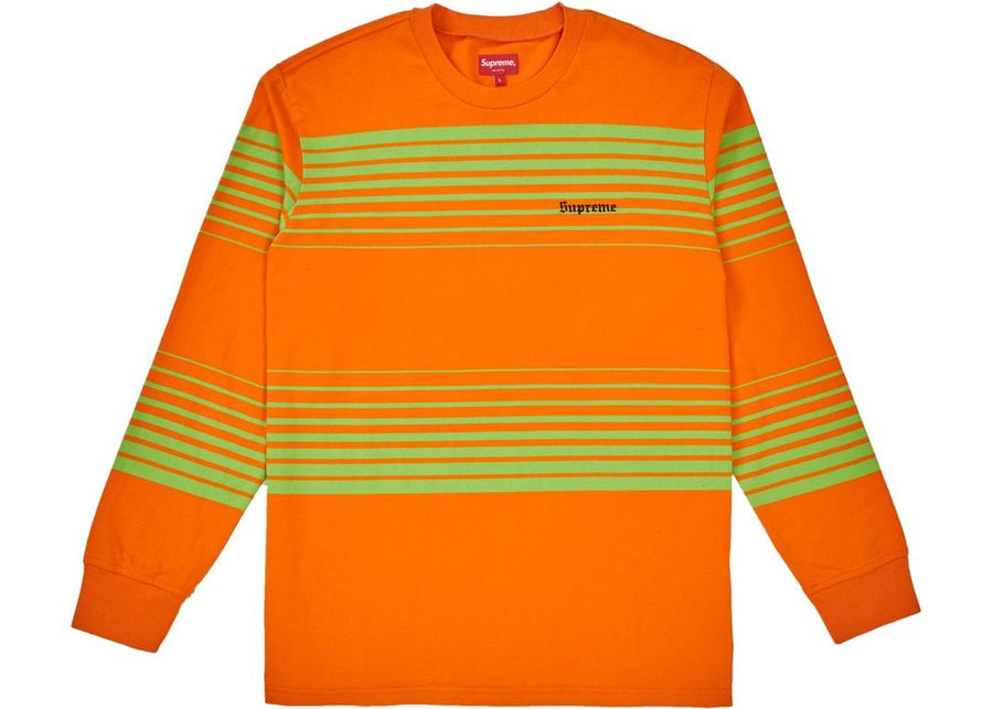 Supreme Fade Stripe L/S Top Orange