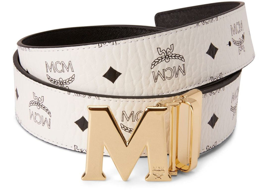 MCM Claus M Reversible Belt Visetos White