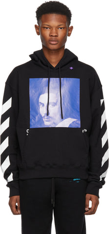 Off White Black Diagonal Bernini Over Hoodie