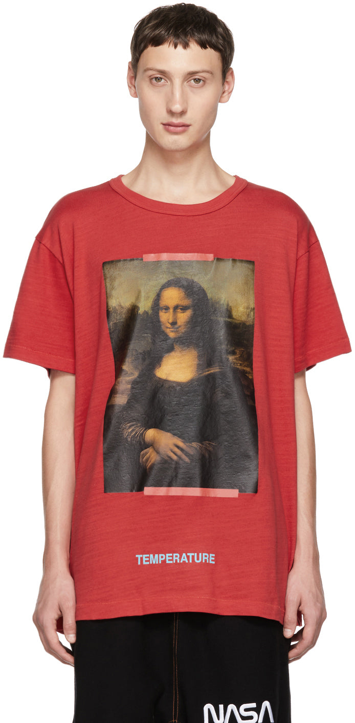Off White SSENSE Exclusive Red Mona Lisa T-Shirt