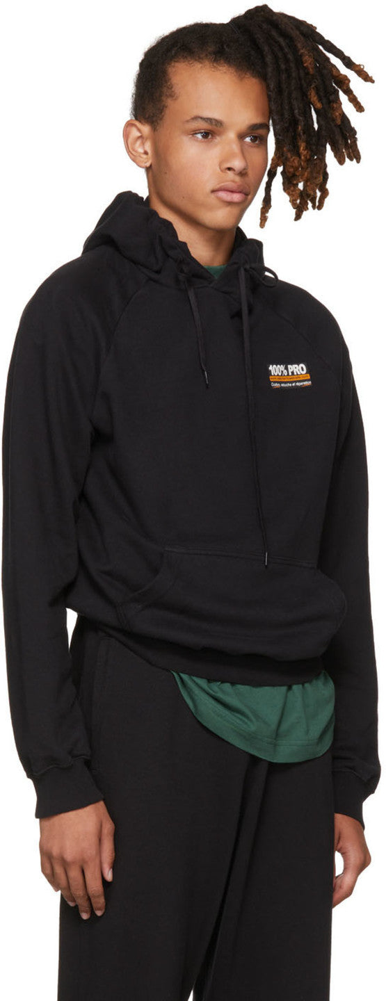 Vetements  Black '100% Pro' Normal Fitted Hoodie