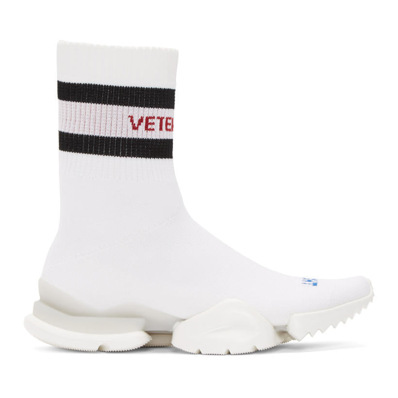 Vetements White Reebok Edition Sock Pump High-Top Sneakers